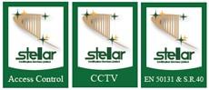 Stellar logos CCTV, Acces Control, Intruder Alarm, Burglar Alarm, Fire Alarms